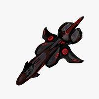 3D spaceship games model