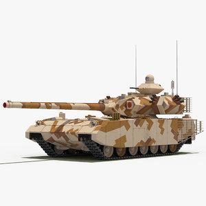 t-100 object-189 tank desert 3D