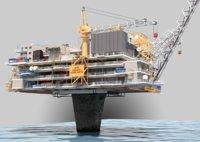 3D oil rig platform shell