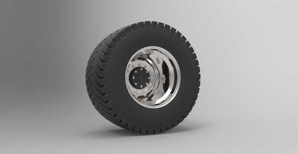 3D model wheel pull tractor