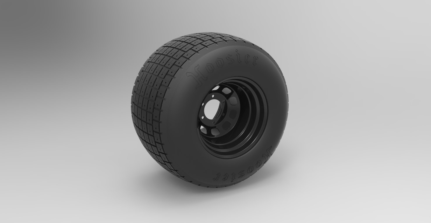 3D wheel batpod model