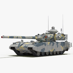 t-100 object-189 tank grey 3D model