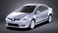 3D 2016 renault fluence model