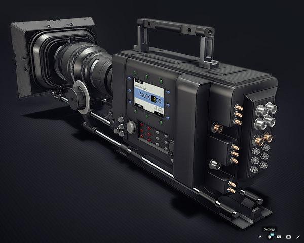 professional digital camera 3D