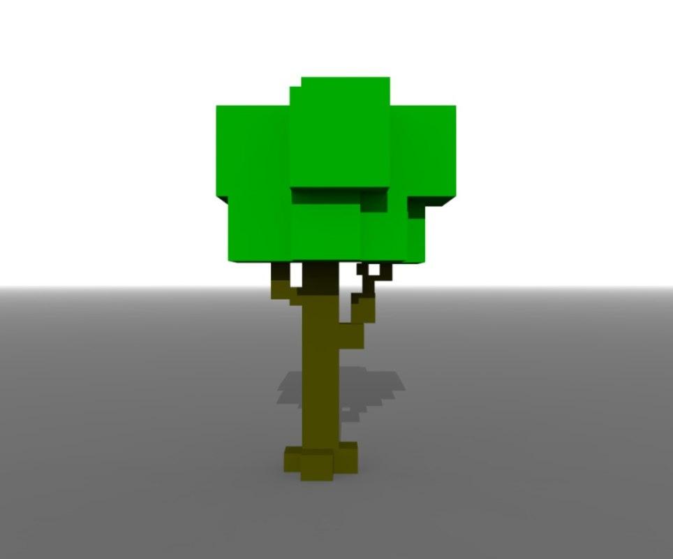 simple boxy voxel art model