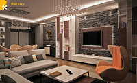 3D contemporary living dinning room