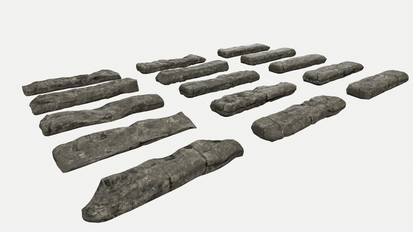 rock stairs 3D