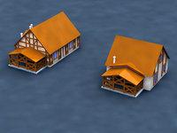 3D house mold print model