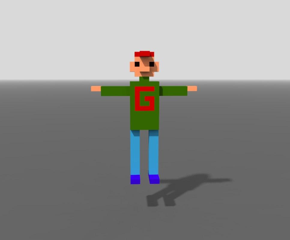 man gary red cap 3D