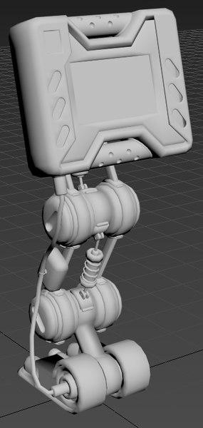 3D model sci-fi gui