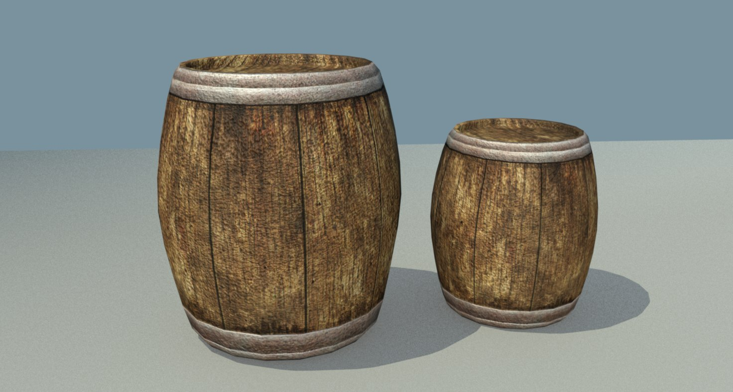 ready barrel 3D model