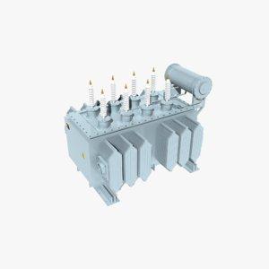 3D model electrical transformer