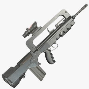 famas f1 assault rifle 3D model