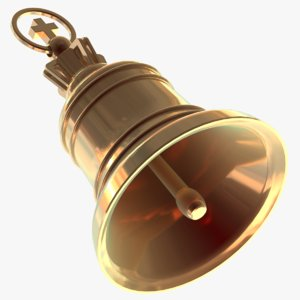 realistic christmas bell 3D model