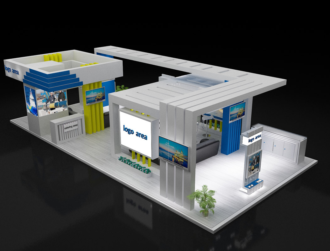 3d Exhibition Booth : D stand exhibition booth turbosquid
