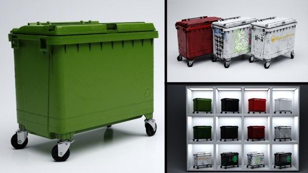 wheelie bin dumpster 3D model