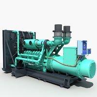 diesel generator 01 3D model