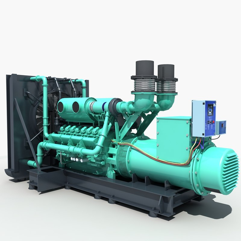 Diesel Generator 01 3d Model Turbosquid 1227747