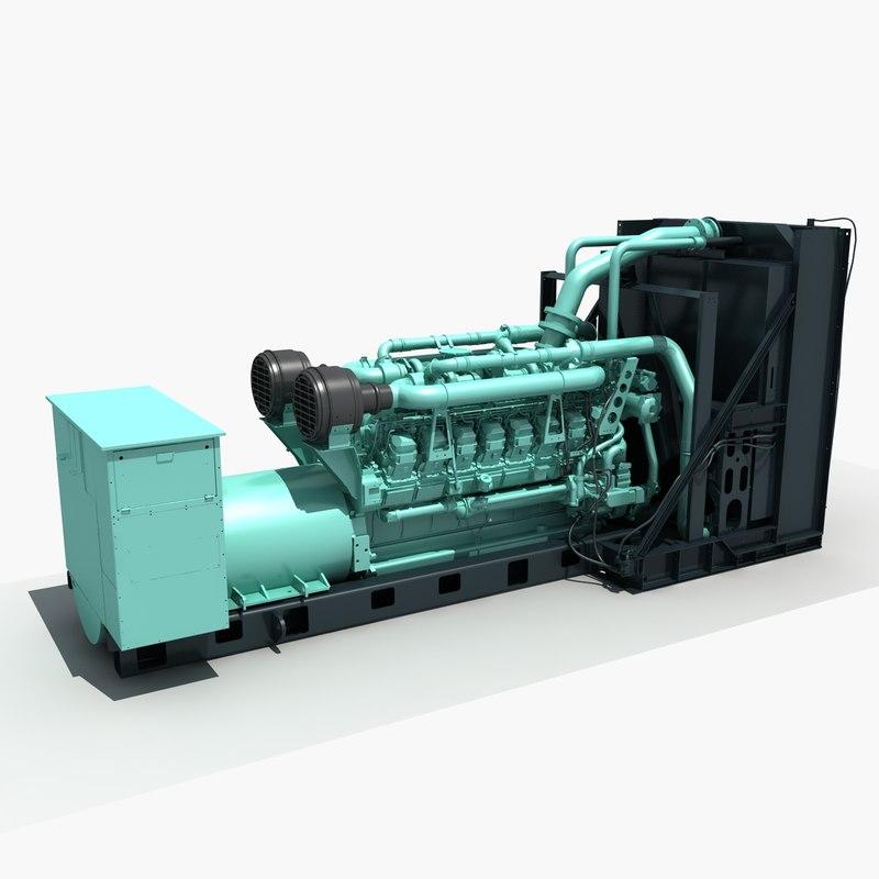 3D diesel generator