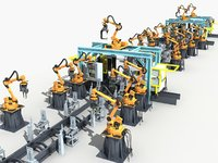 Robotic welding production line