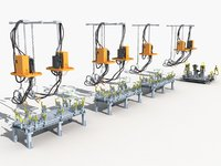 hoisting welding production 3D model