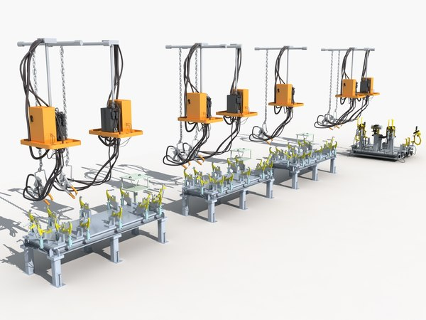 hoisting welding production 3D model