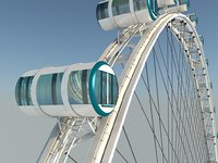 Singapore Flyer | Detailed Model | Ferris Wheel