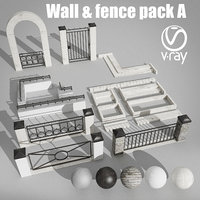wall fence pack 3D
