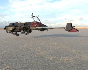 3D star wars speeder