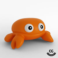 3D bath rubber toy crab