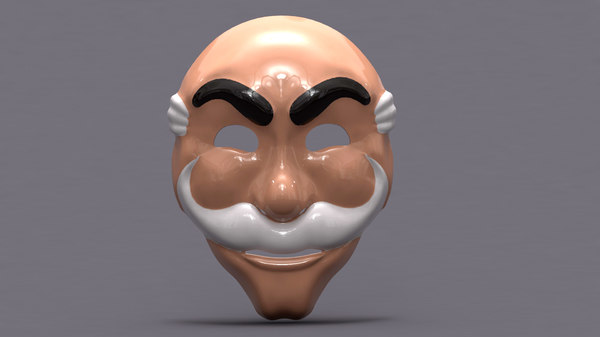 mask mr robot 3D model