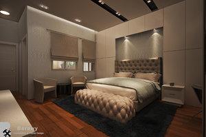 scene master bedroom 3D model