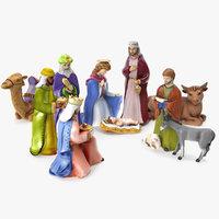 3D nativity set model