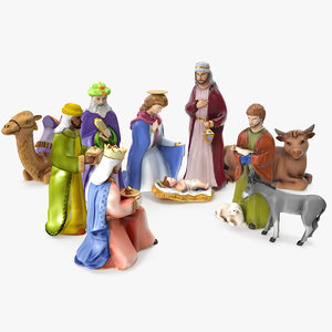 3D nativity set model