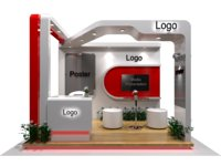 Exhibition stand with fabrication