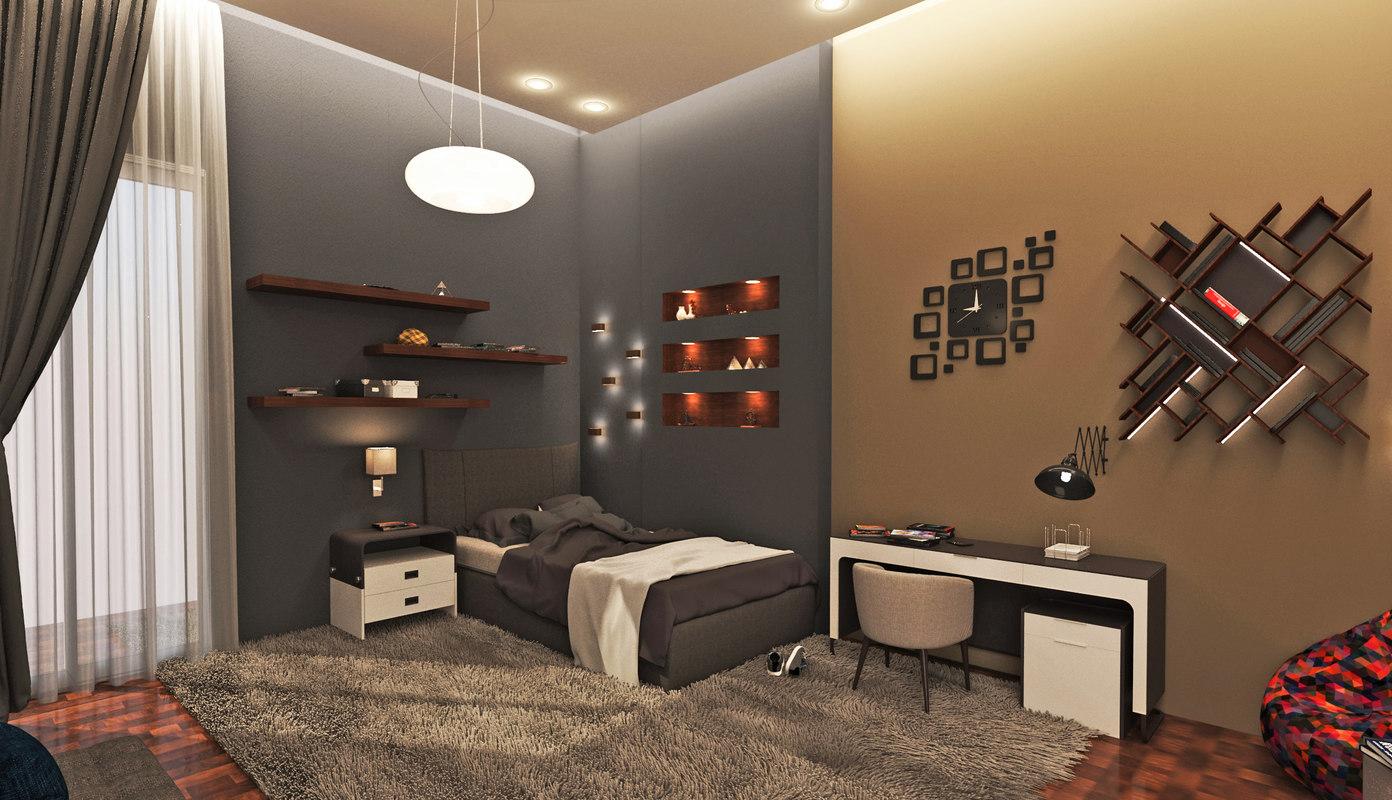 Modern Kids Bedroom 3d Model Turbosquid 1227793