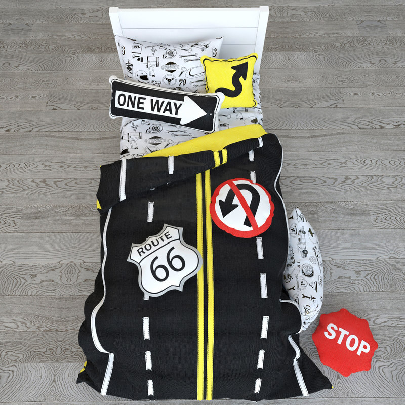 road sign bedding set model