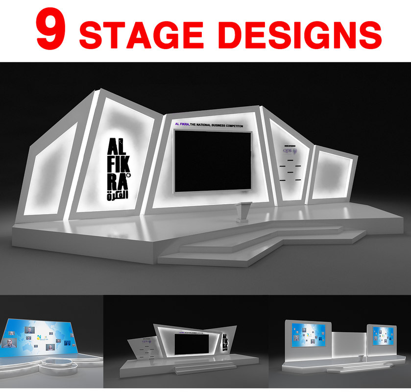3D model stages designed