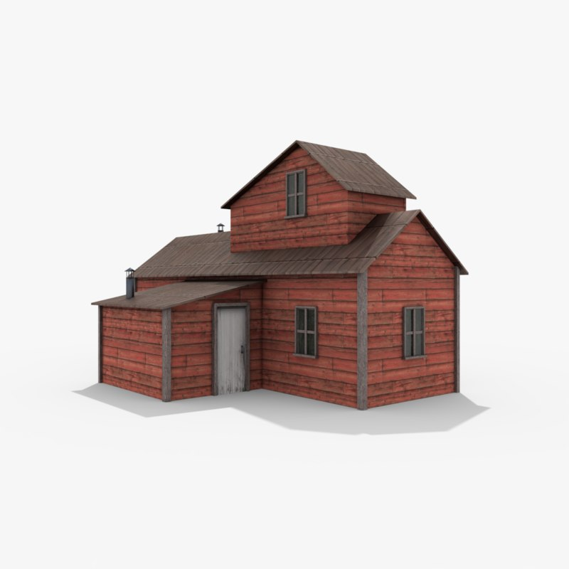3D ready wild west house model