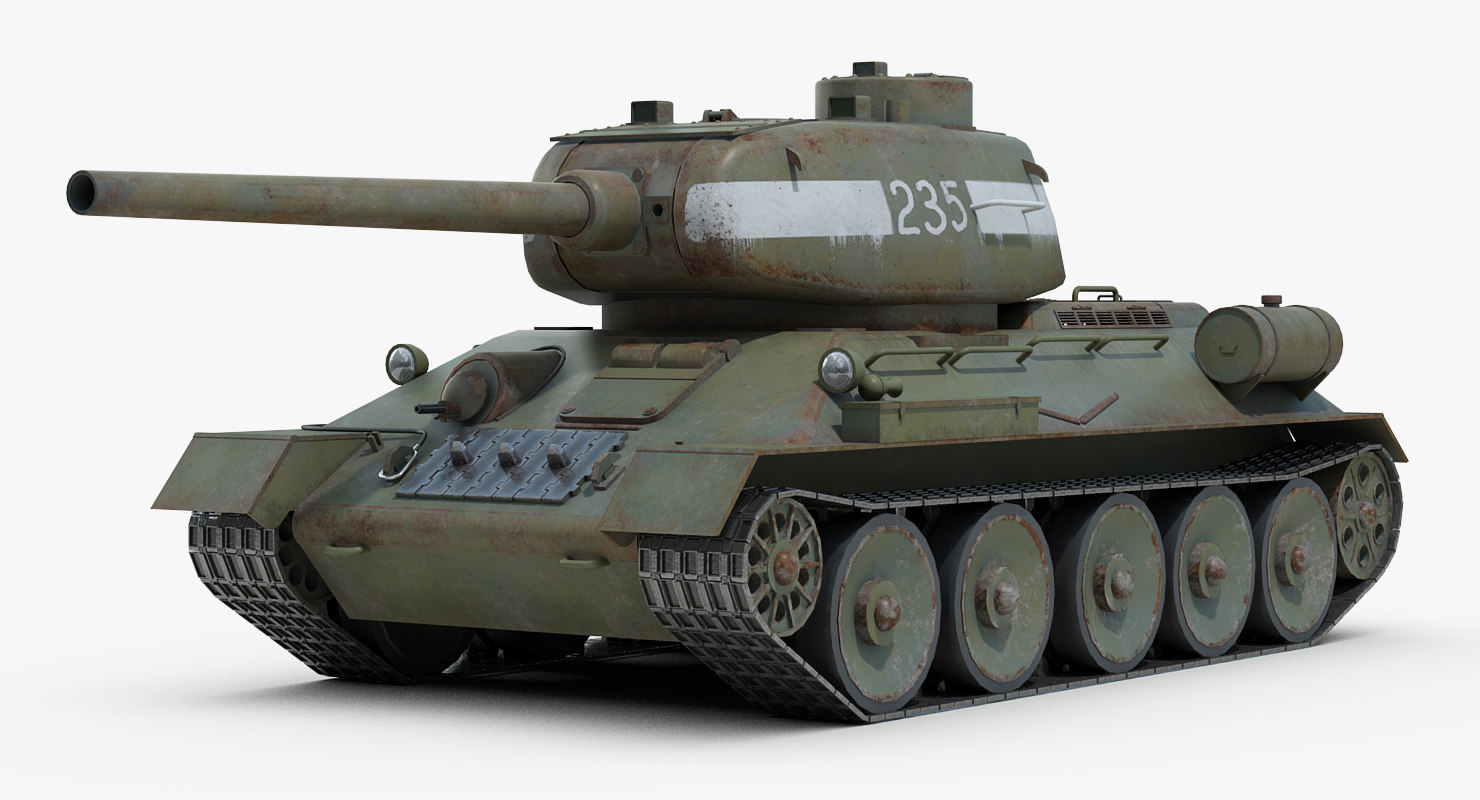 3D model ww2 russian 85 tank tracks