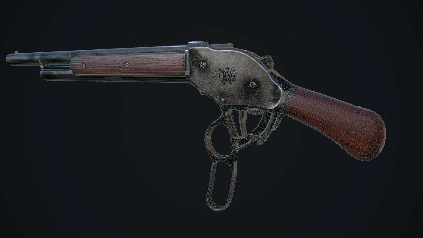 winchester m1887 3D model