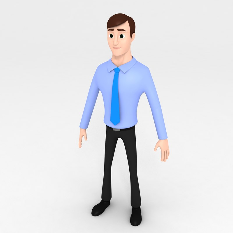 office man cartoon model