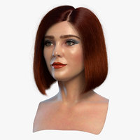 3D female head 3 blends model