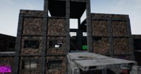 pbr modular abandoned building 3D model