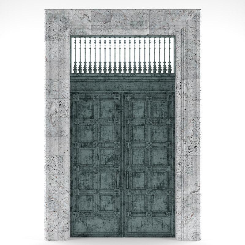 exterior door 3D