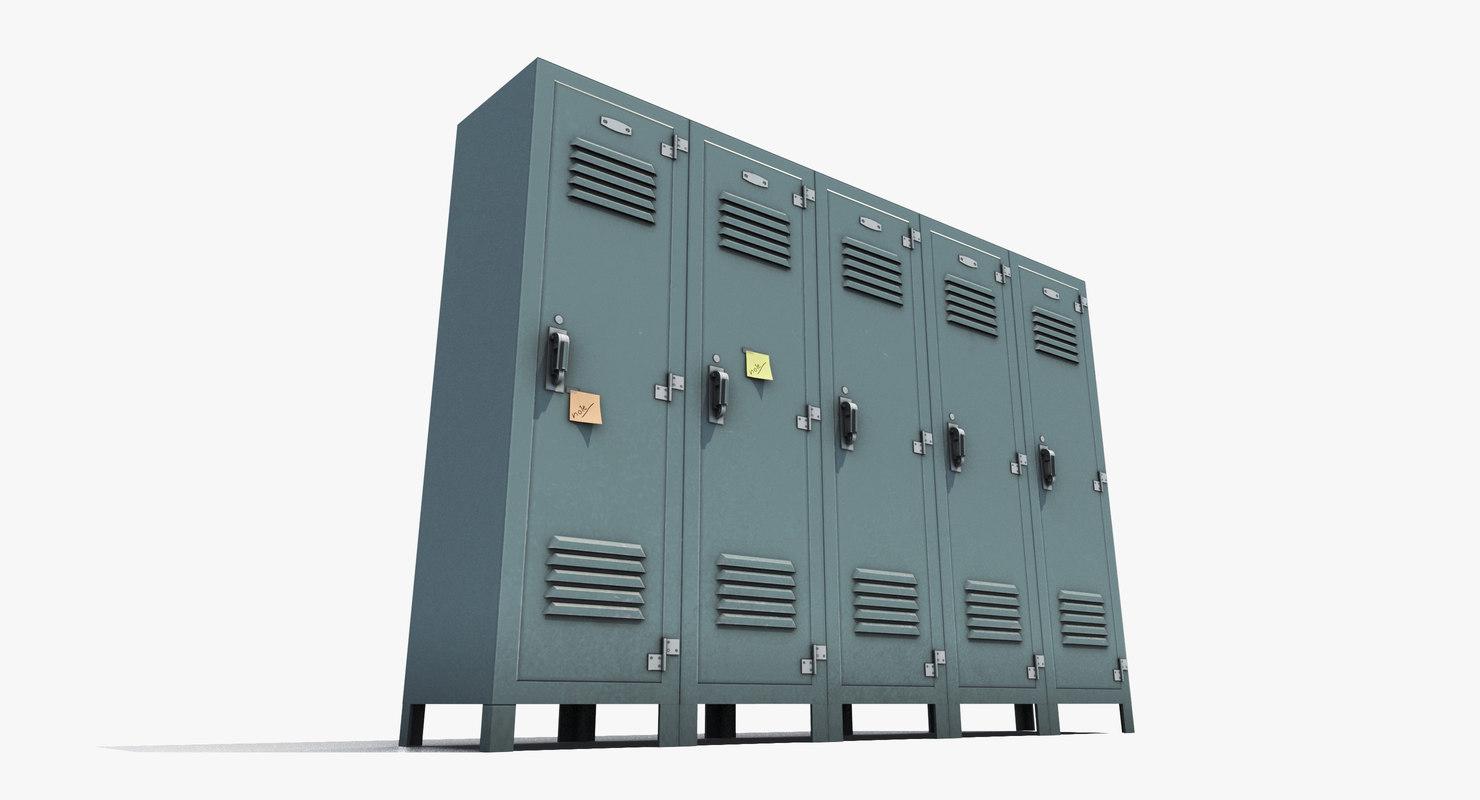 3D locker openable model