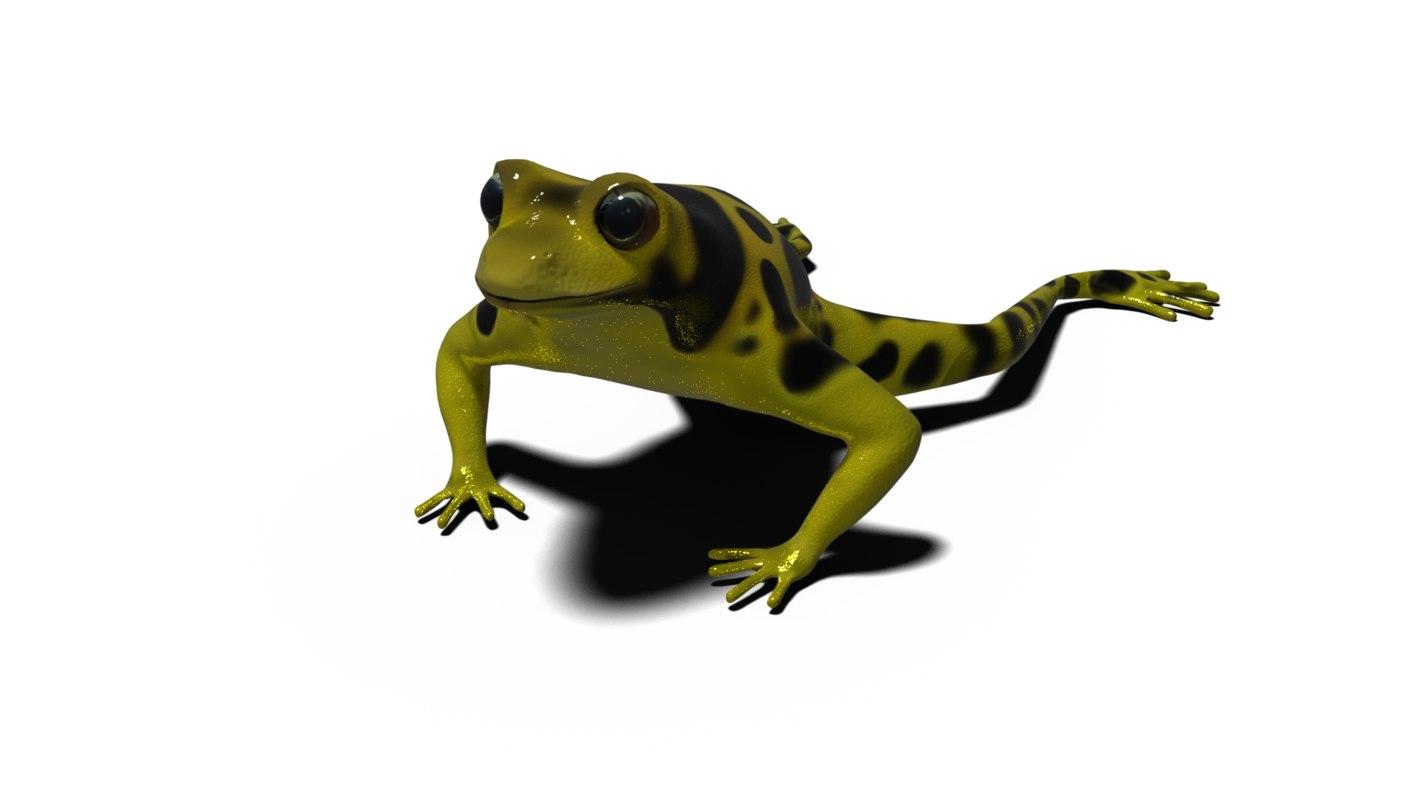 3D blender frog