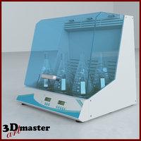 incu-shaker non-slip rubber flat 3D model