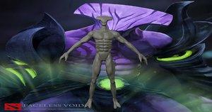faceless void dota 2 3D model