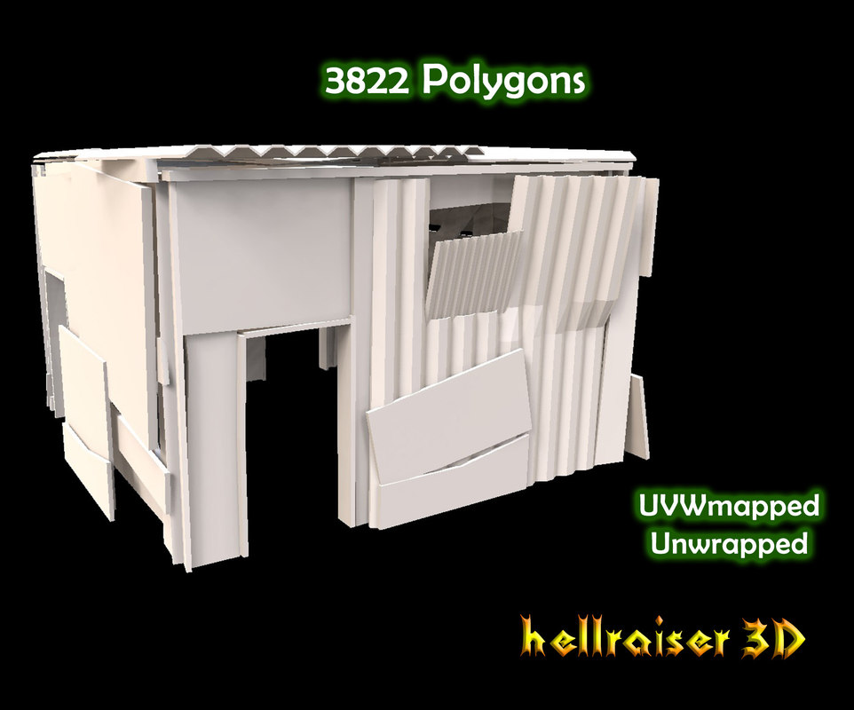 shanty house exterior interior 3D model